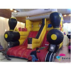 Train Inflatable Slides and Bouncing Combo Rental Service