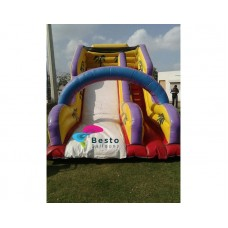 Yellow Inflatable Slides and Bouncing Combo Rental Service