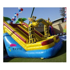 Jungle Yellow Inflatable Slides and Bouncing Combo Rental Service