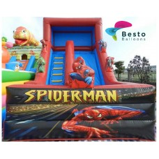 Spiderman Inflatable Slides and Bouncing Combo Rental Service