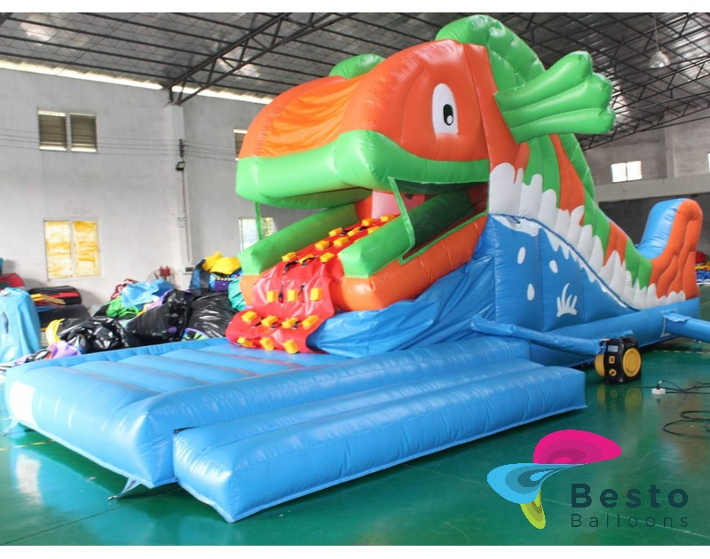 Fish Eater Inflatable Slides and Bouncing Combo