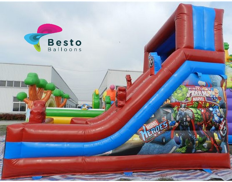 Avengers Inflatable Slide and Bouncing Combo Rental Service for Karachi Only