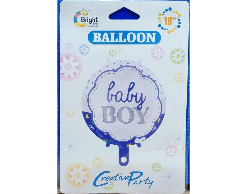 Baby Boy Foil Balloons 18 inch