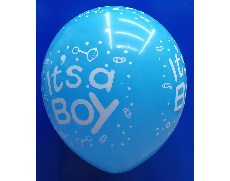 Its a Boy Latex Balloons 12 inch