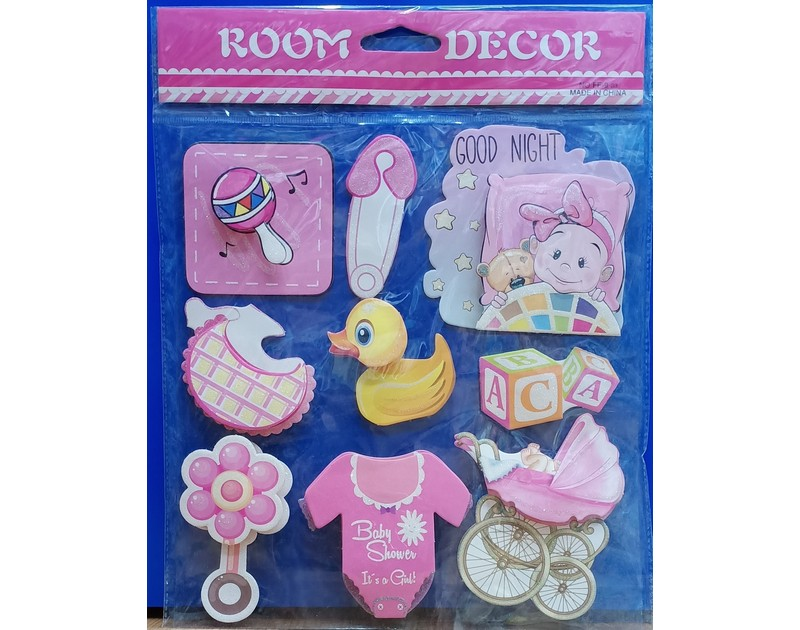 Its a Girl 3D Wall Decor Stickers duck