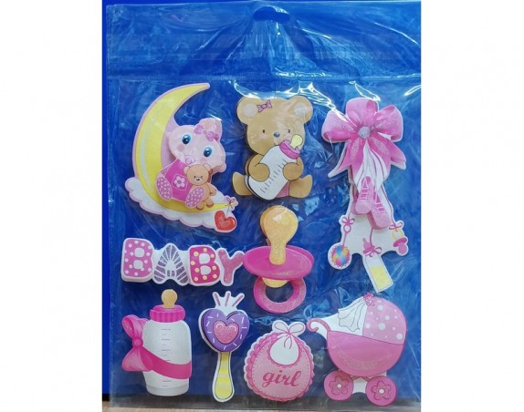 Its a Girl 3D Wall Decor Stickers