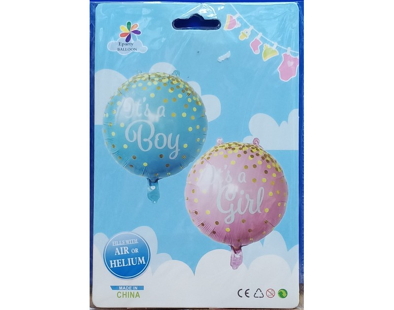 Its a Baby Girl Foil Balloons Round 18 inch