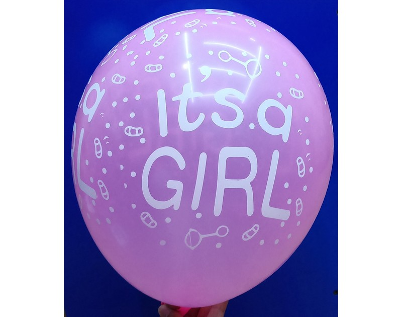 Its a Girl Latex Balloons 12inch