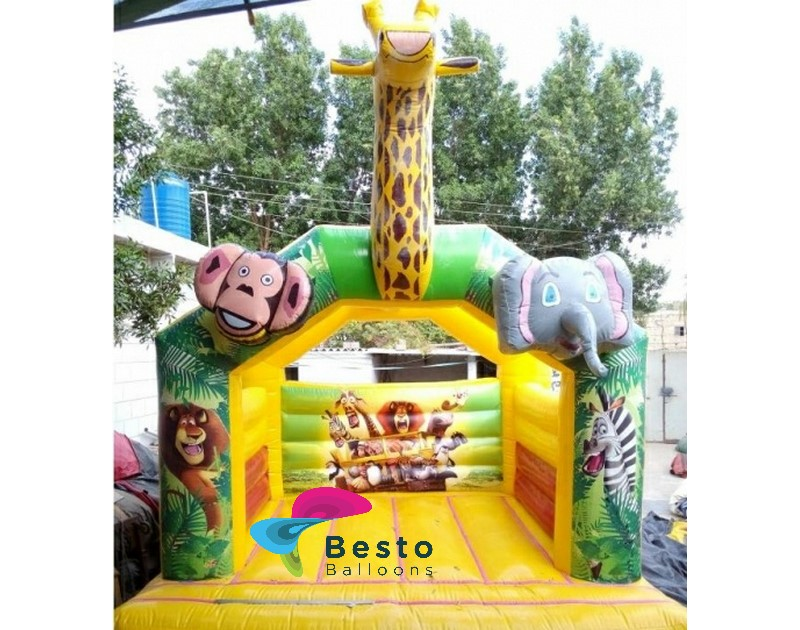 Jungle Yellow Bouncing House Rental Service