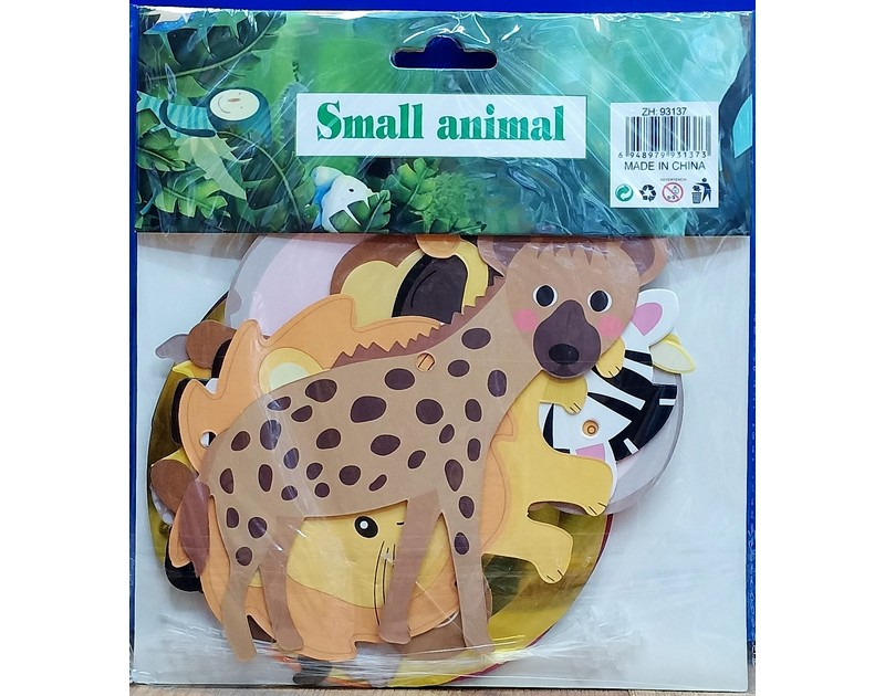 Jungle Theme Animal Hangings 12 Pcs Pack