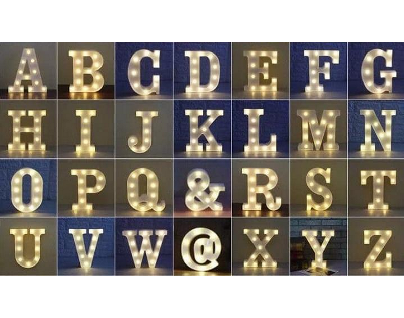 LED Alphabets Acrylic Battery Operated 10 inch