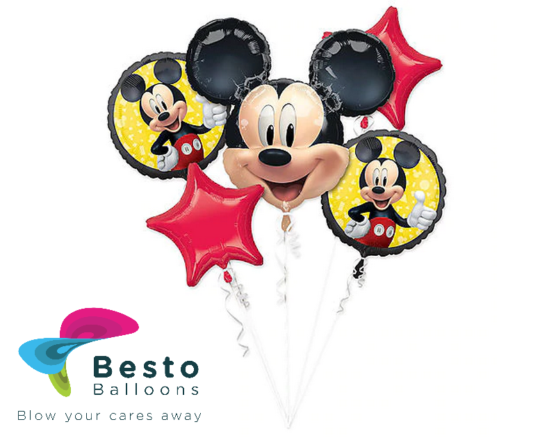 Mickey Mouse Foil Balloon 5 pc
