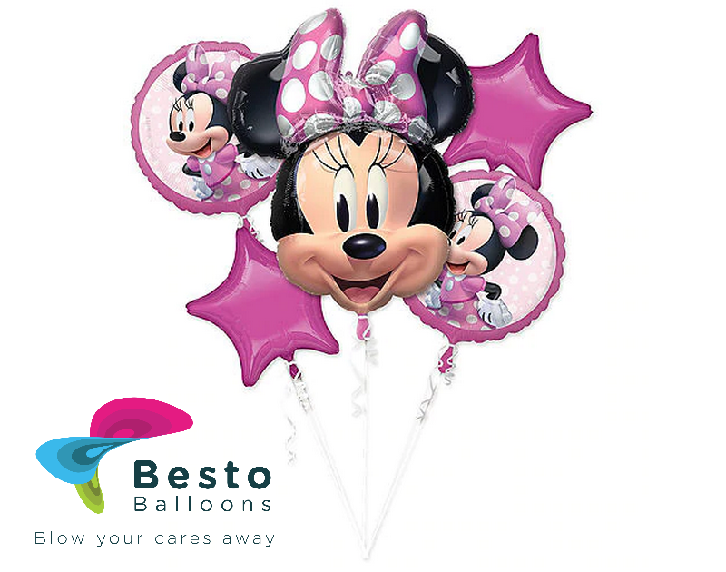 Minnie Mouse 5 pc Foil Balloon Bouquet