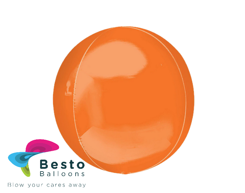 Orange Orbz Foil Balloon