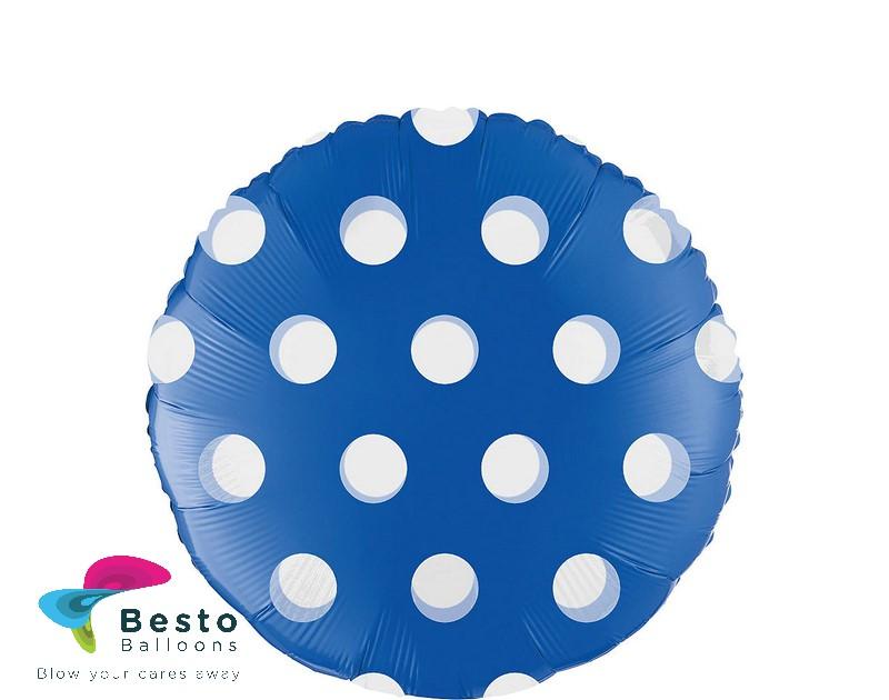 Royal Blue Polka Dot Foil Balloon