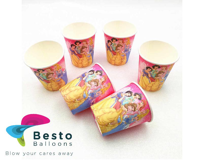 Princess Paper Cups 10pcs