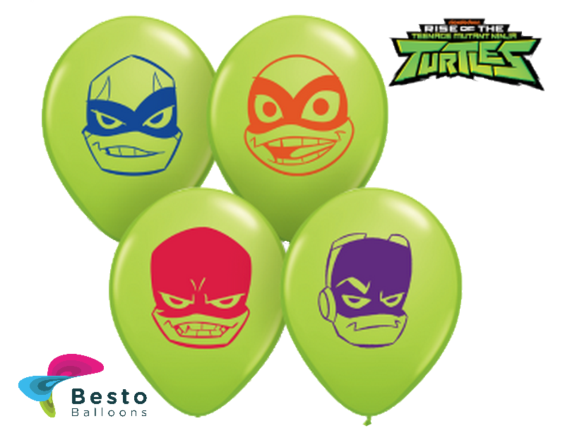 Customized Ninja Turtles Character Double Side Print Balloons (2)