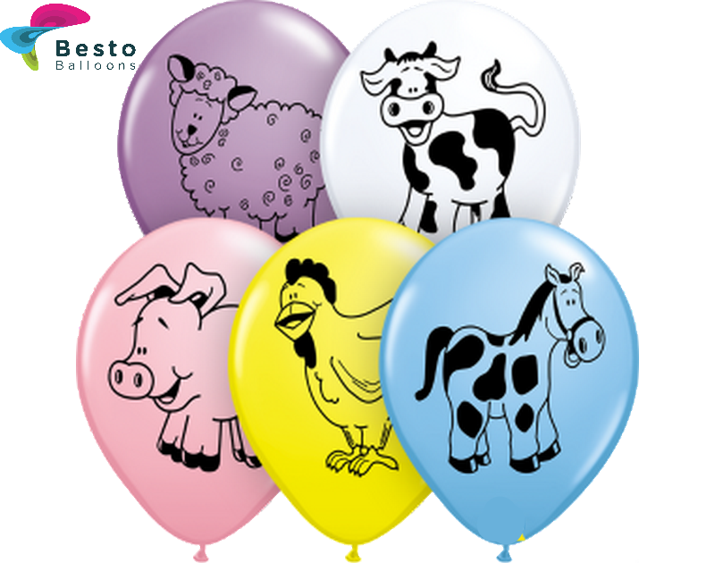 Customized Jungle Theme Animal Double Side Print Balloons (2)