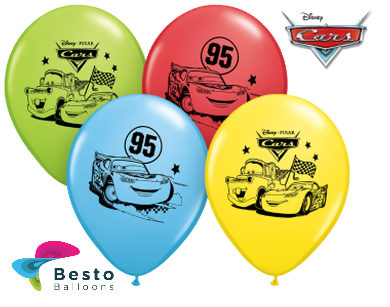 Customized Disney Cars Double Side Print Balloons