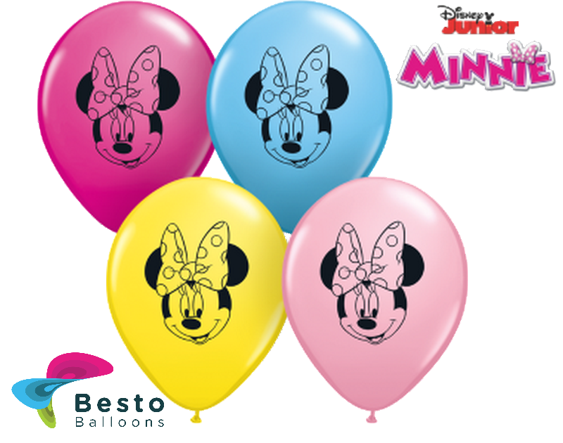 Customized Minnie Mouse Face Double Side Print Balloons