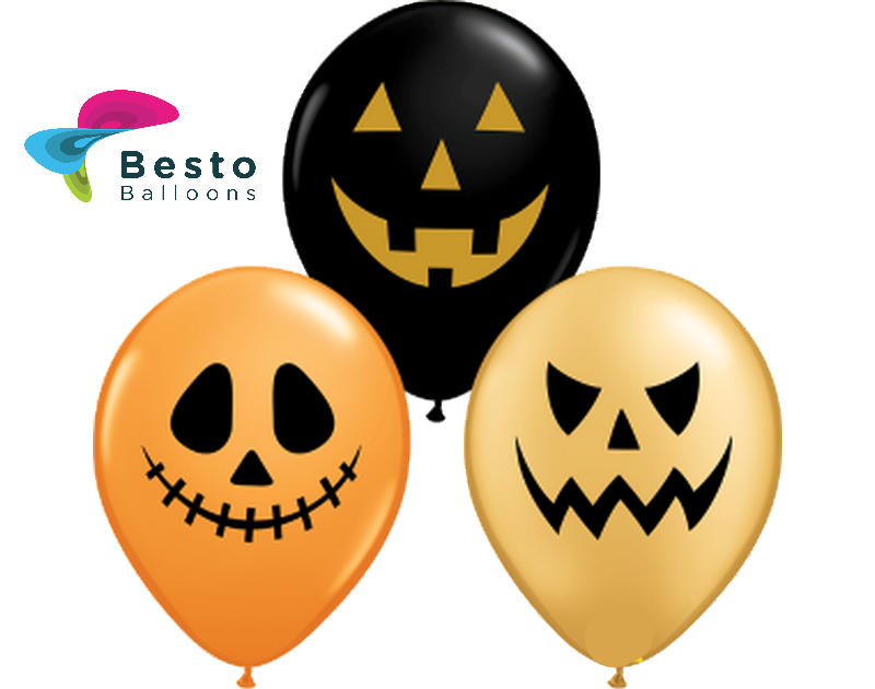 Customized Halloween Face Double Side Printed Balloons (1)