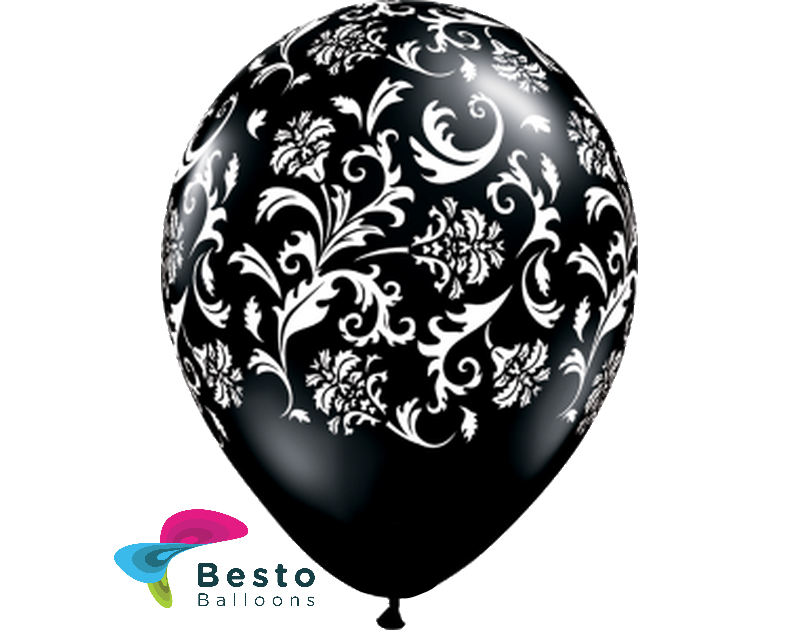 Customized Damask Print Double Side Print Balloons