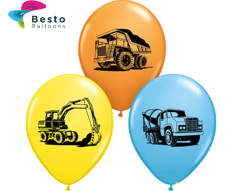 Customized Construction Truck Double Side Print Balloons