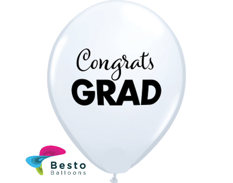 Customized Graduation Multicolor Double Side Print Balloons