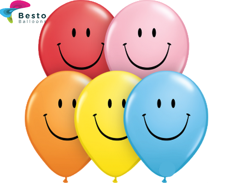 Customized Multicolor Smile Double Side Print Balloons