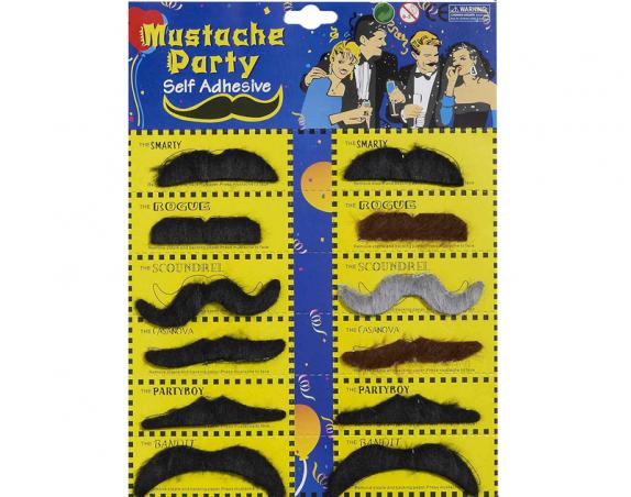 Artificial Mustache 12Pcs Pack