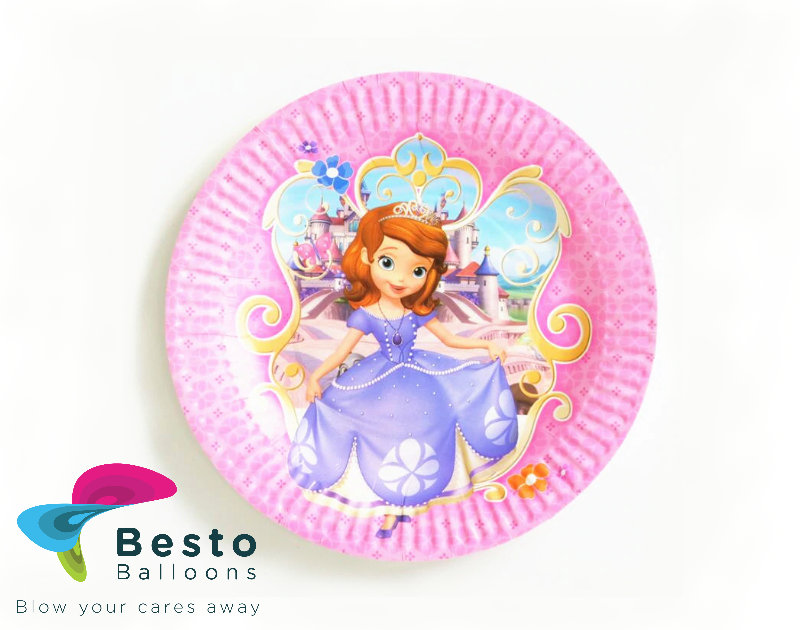 Sofia Princess Paper plates 10pc