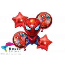Spiderman Foil Balloon Bouquet 5 pcs