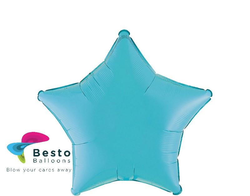 Sea Blue Star Shape Foil Balloon