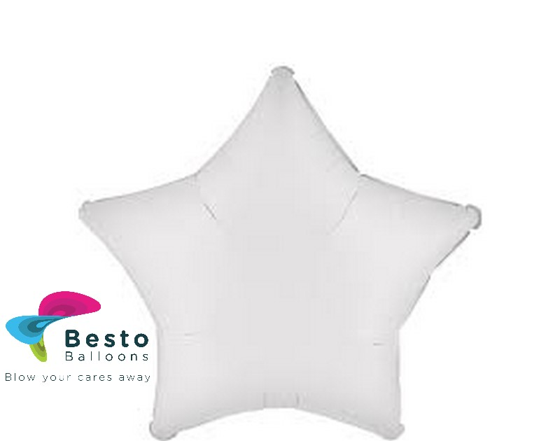 White Star Shape Foil Balloon