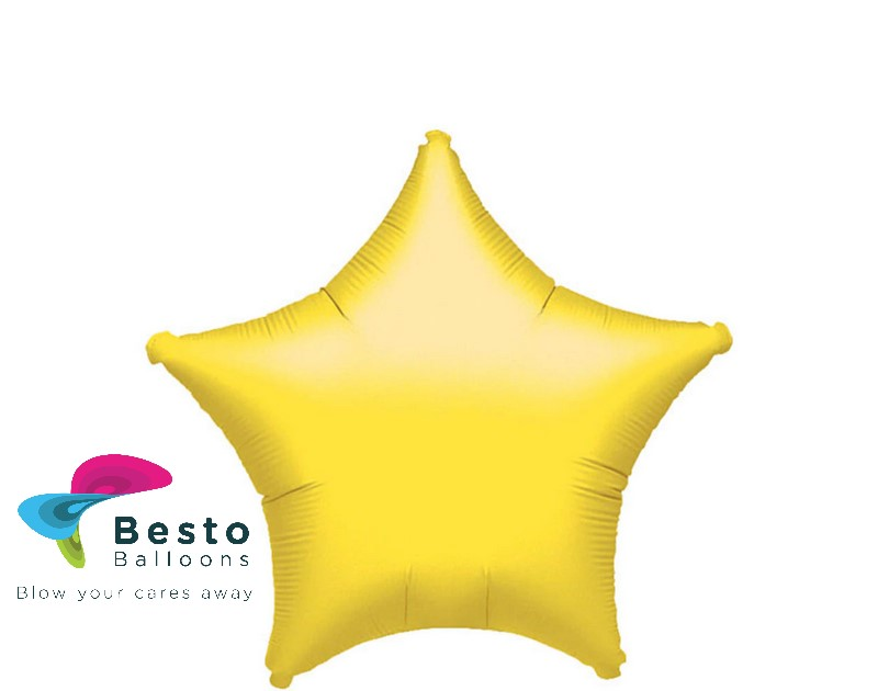 Yellow Star Shape Foil Balloon