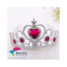 Red and Silver Tiara/Crown