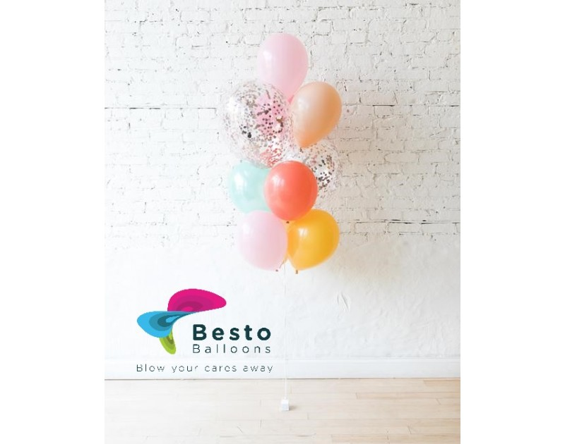 Latex Pastel Balloon Bouquet