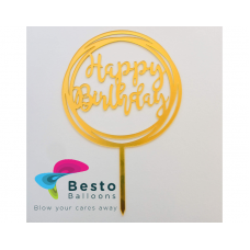 Cake Topper Acrylic Happy Birthday