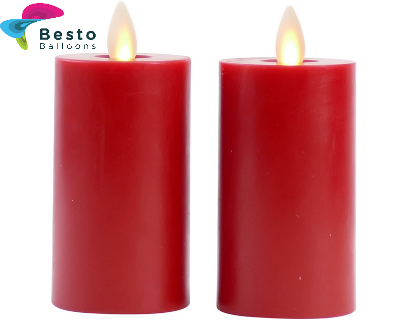 Red Candles Led Plain