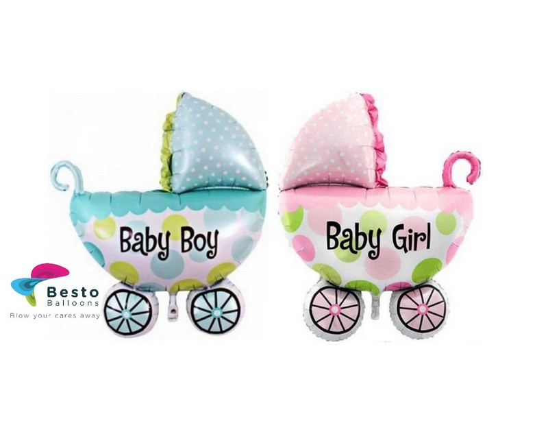 Baby Carriage Shaped Foil Balloon