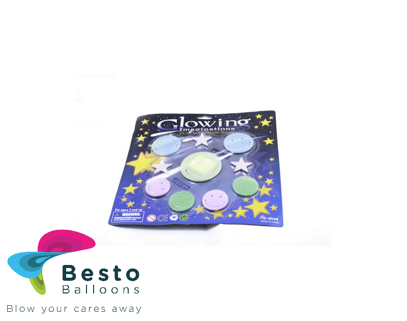 Glow In The Dark Large Stars And Moons