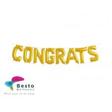Congrats Gold Alphabet Foil Balloon