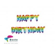 Happy Birthday Multicolor Foil Balloon
